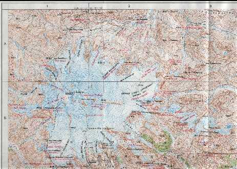 Топографические карты Кавказа:
